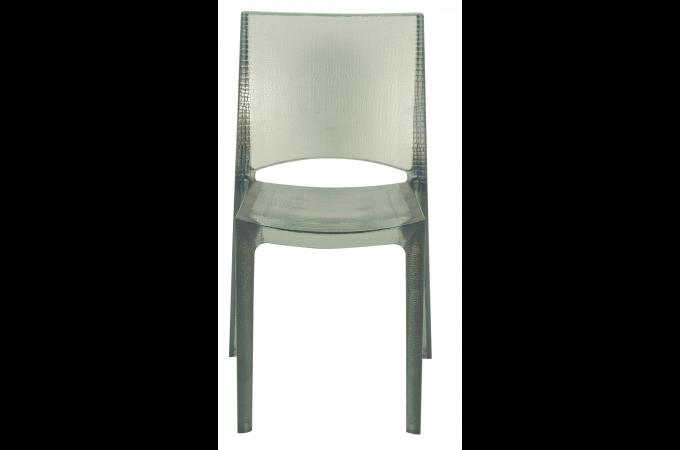 Chaise design grise claire fum e transparente nilo chaise design pas cher - Chaise design transparente polycarbonate ...