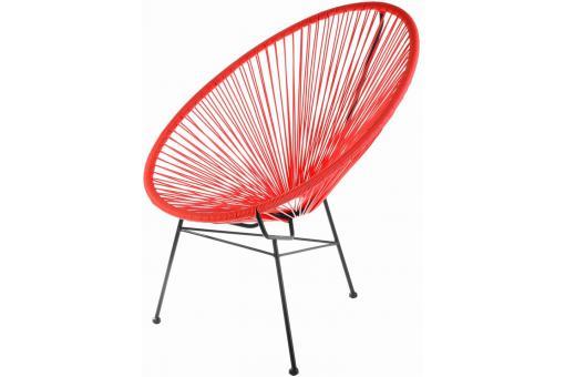 fauteuil la chaise longue rouge acapulco fauteuil design pas cher. Black Bedroom Furniture Sets. Home Design Ideas