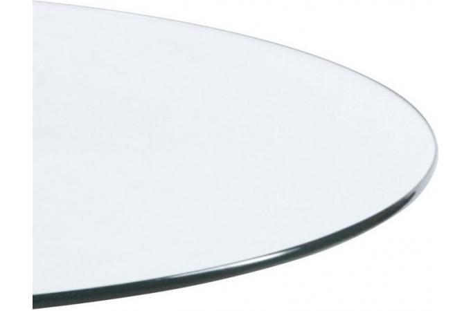 Table basse verre ronde transparent tables d 39 appoint pas cher - Plateau verre pour table ronde ...