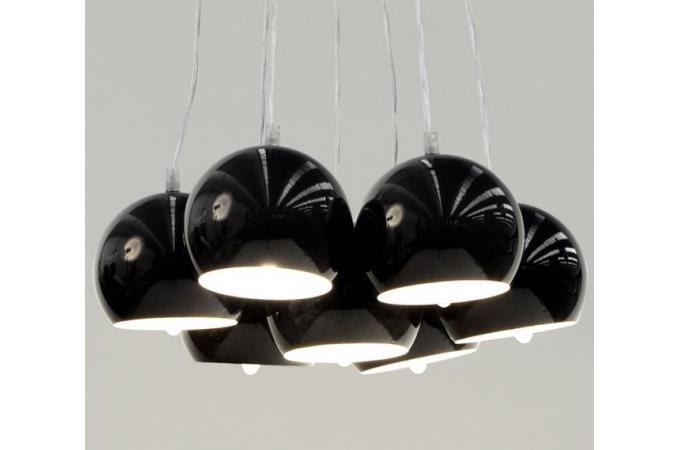 Lustre boule buble noir lustres suspensions pas cher - Lustre noir baroque pas cher ...