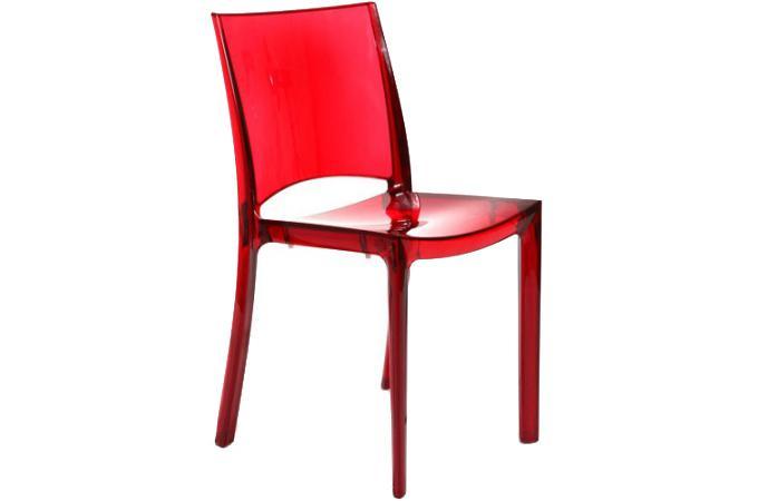 chaise design rouge transparent nilo chaise design pas cher. Black Bedroom Furniture Sets. Home Design Ideas