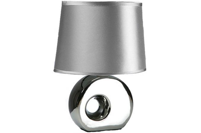 Lampe poser noire socle c ramique iris lampes poser - Lampe a poser ceramique ...