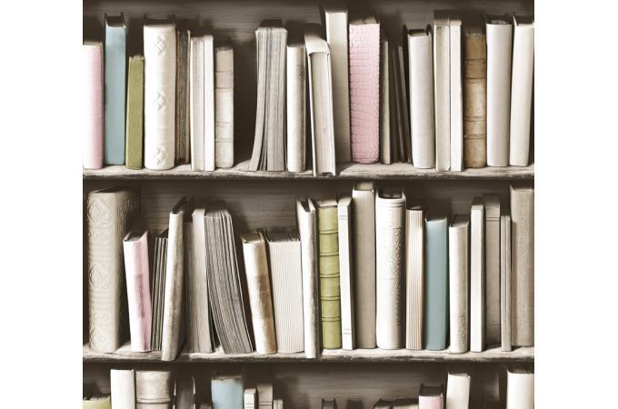 papier peint biblioth que vintage papier peint trompe l 39 oeil pas cher. Black Bedroom Furniture Sets. Home Design Ideas