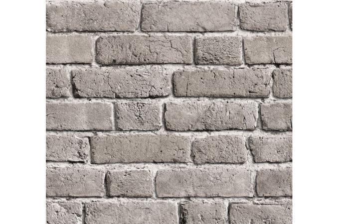 Papier peint briques grises cendr es papier peints - Papier peint baroque pas cher ...