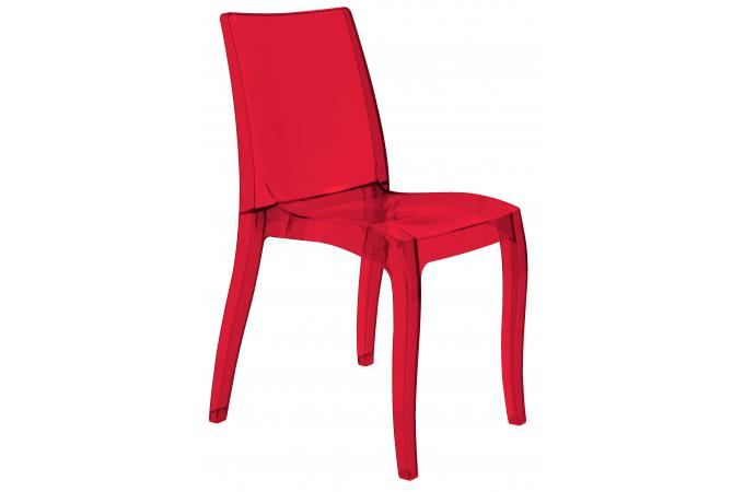 Chaise Design Transparente Rouge Athenes Chaise Design