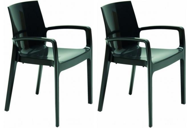 Lot de 2 chaises design noires genes chaise design pas cher - Lot de chaises noires ...
