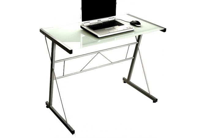 Table d 39 ordinateur blanche en verre geminy bureau pas cher - Bureau en verre pas cher ...