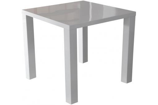 table repas carr e blanc laqu zena table manger pas cher. Black Bedroom Furniture Sets. Home Design Ideas