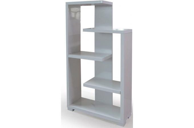 Etag re moderne blanc brillant triange etag re pas cher - Etagere escalier blanc ...