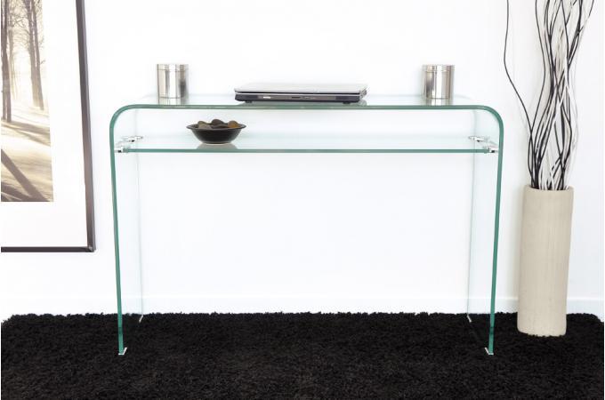 Console design en verre transparent 1 tag re otta console pas cher - Console transparente design ...