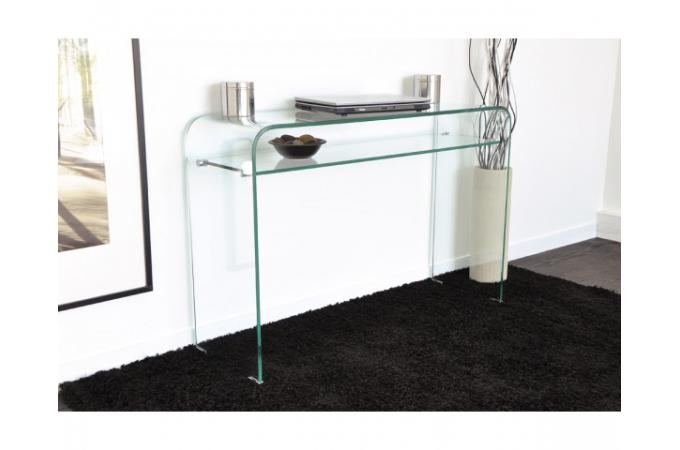 Console Design En Verre Transparent 1 Tag Re Otta Console Pas Cher