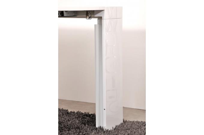 Console extensible plaqu bois 5 rallonges blanche table console pas cher - Table console extensible 5 rallonges ...