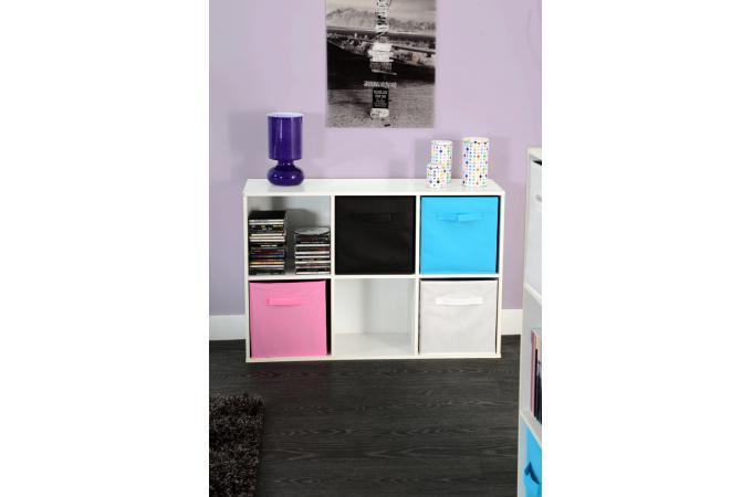 Rangement 6 cases blanc meuble de rangement pas cher for Meuble 6 cases blanc