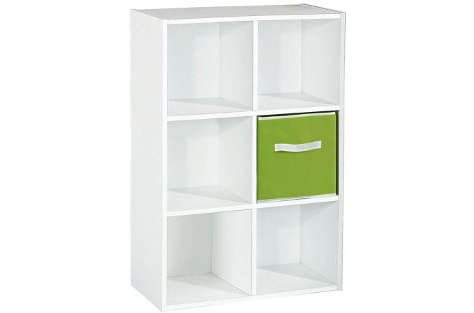 Rangement 6 cases blanc meuble de rangement pas cher for Meuble de rangement case