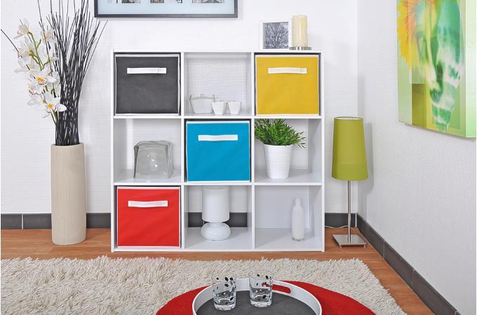 Rangement blanc 9 cases carmelo meuble de rangement pas cher for Meubles 9 cases