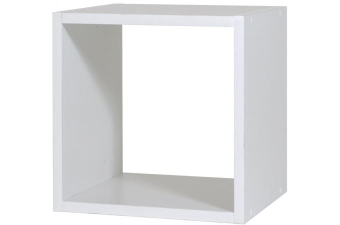 Rangement 1 case petit mod le blanc meuble de rangement for Meuble 8 cases pas cher