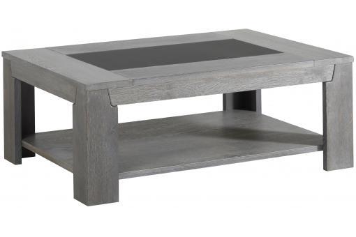 table basse ch ne gris plaqu bois sidney table basse pas cher. Black Bedroom Furniture Sets. Home Design Ideas