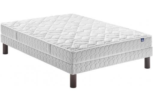 pack sommier et matelas 160x200 en polyester confort ferme 3d merinos matelas pas cher. Black Bedroom Furniture Sets. Home Design Ideas