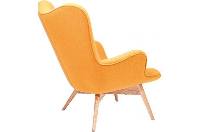 Fauteuil jaune en laine mathilde fauteuil design pas cher - Fauteuil design jaune ...