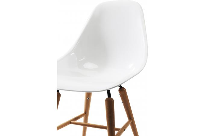 Chaise forum blanche bois design chaise design pas cher - Chaise design blanche et bois ...