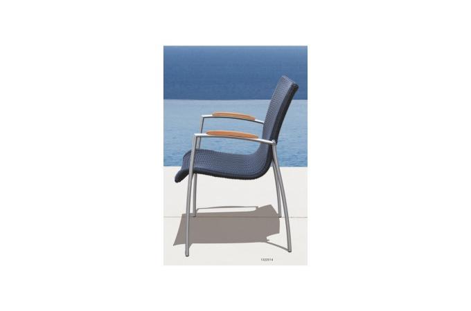 Table et chaises marrons en teck ad le fauteuil et for Table et chaise en teck