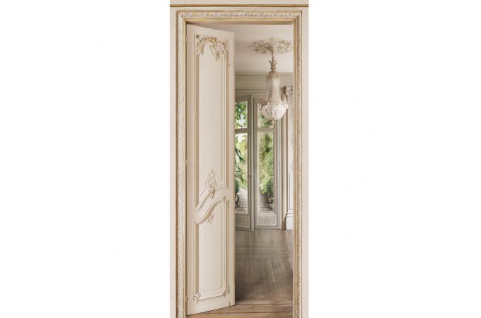 Papier peint jardin beige louis xv papier peint trompe l for Papier peint pour porte