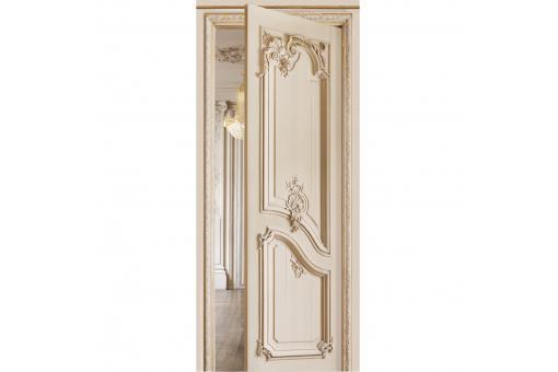 papier peint porte ouverte blanc gris louis xv papier peint trompe l 39 oeil pas cher. Black Bedroom Furniture Sets. Home Design Ideas