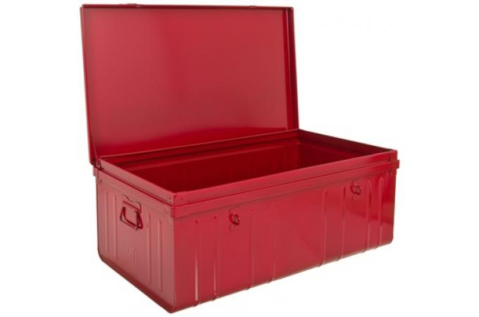 malle de rangement m tal 100x55 cm rouge bo te de rangement pas cher. Black Bedroom Furniture Sets. Home Design Ideas