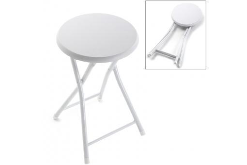 tabouret bain rembourr pliable blanc petit tabouret pas cher. Black Bedroom Furniture Sets. Home Design Ideas