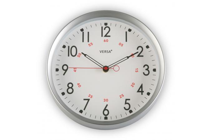 horloge murale ronde argent e horloge design pas cher