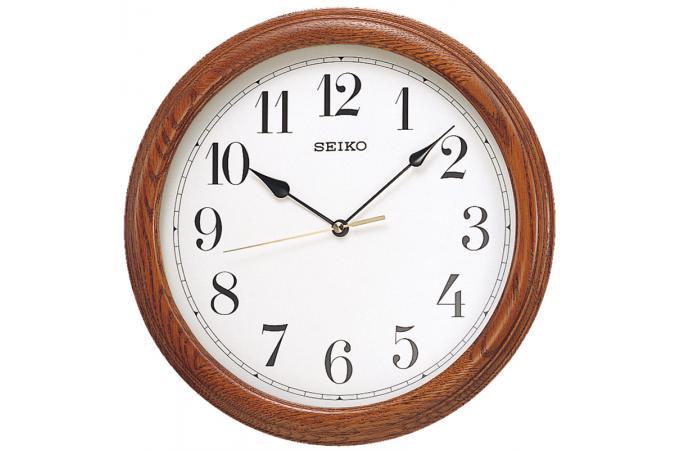 Horloge design ronde en bois horloge design pas cher for Horloge design bois