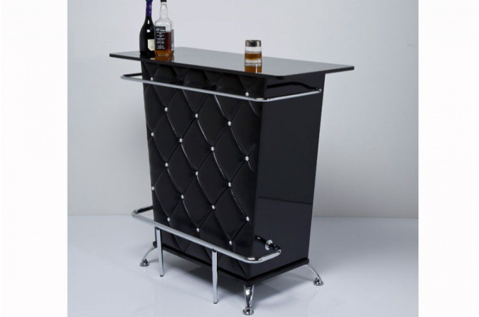 Bar capitonn noir lady rock - Meuble de bar design ...
