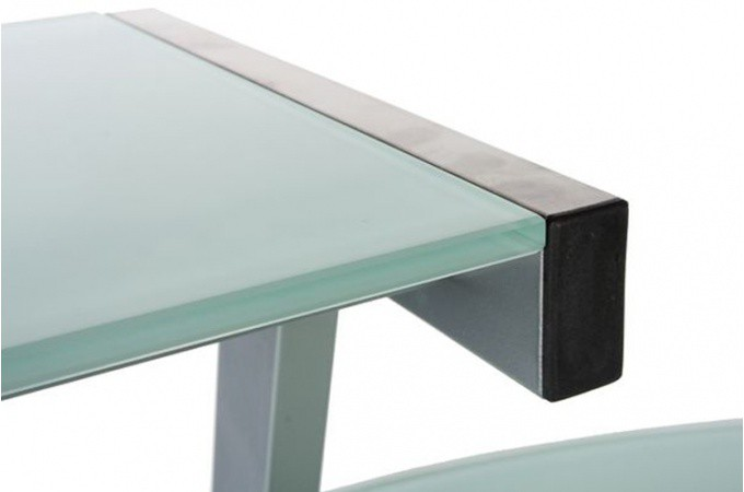 bureau work en verre teint blanc bureaux pas cher. Black Bedroom Furniture Sets. Home Design Ideas