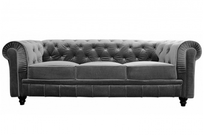 Canap chesterfield velours pas cher univers canap for Canape chesterfield pas cher