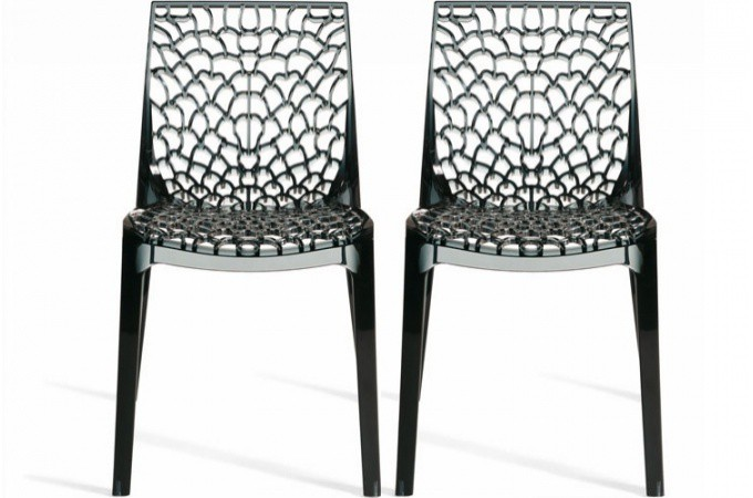 Lot De 2 Chaises Fum Es Transparentes Gruyer Chaises