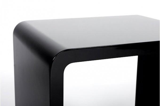 chevet design cube noir laqu tables de chevets pas cher. Black Bedroom Furniture Sets. Home Design Ideas