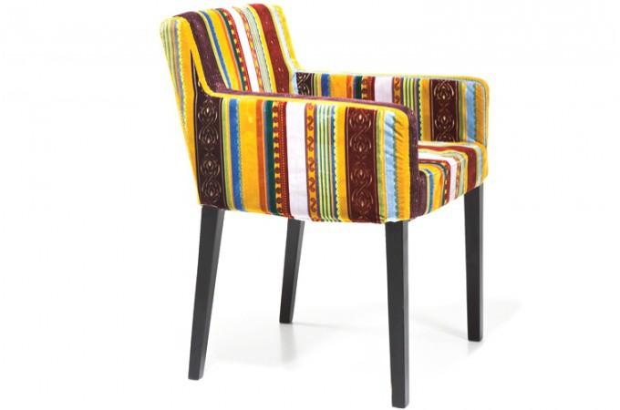 fauteuil color style british britany bois polyester declikdeco. Black Bedroom Furniture Sets. Home Design Ideas