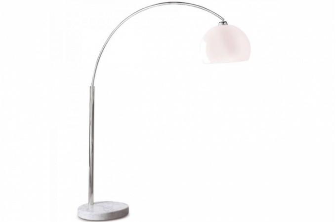 Lampe arc design blanc small lampadaires pas cher - Lampadaire arc blanc ...