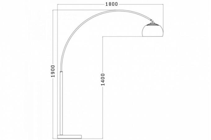 lampe arc xl orange lampadaire arc style retro. Black Bedroom Furniture Sets. Home Design Ideas