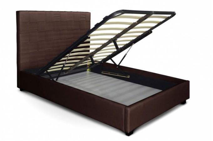 lit coffre en simili cuir choco kal o 180x200 cm lit design pas cher. Black Bedroom Furniture Sets. Home Design Ideas