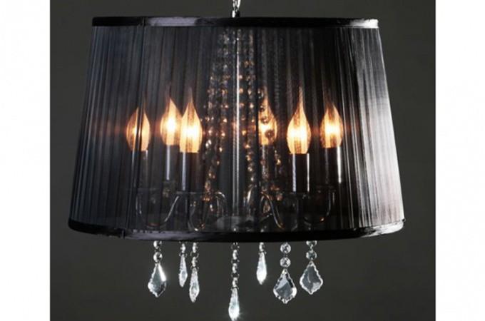 lustre baroque cosy noir lustres suspensions pas cher. Black Bedroom Furniture Sets. Home Design Ideas