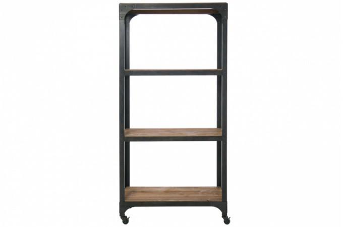 Etag re industrielle en bois etag re en bois pas ch re for Etagere industrielle bois metal