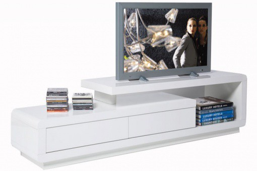 Meuble Tv Avec Tiroir Pas Cher : > Meuble Tv > Meuble Tv Blanc Kare Design Laqué Avec Tiroirs People