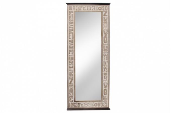 Miroir industrie pas cher for Miroir deco bois