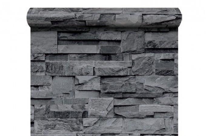 Papier peint pierre de parement grise papiers peints brique pierres pas cher - Papier peint pierre de parement ...