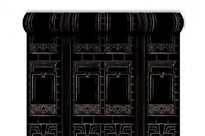 Papier peint trompe oeil effet baroque papier peint - Lustre noir baroque pas cher ...