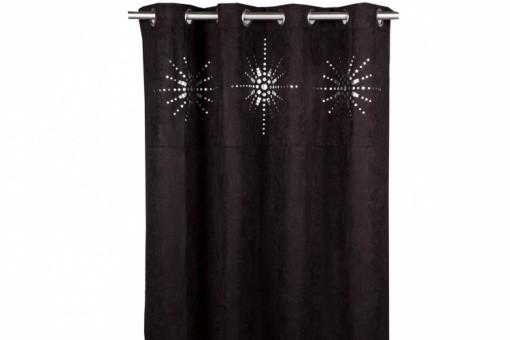 rideau oeillet japonais noir 140x260 cm rideaux pas cher. Black Bedroom Furniture Sets. Home Design Ideas