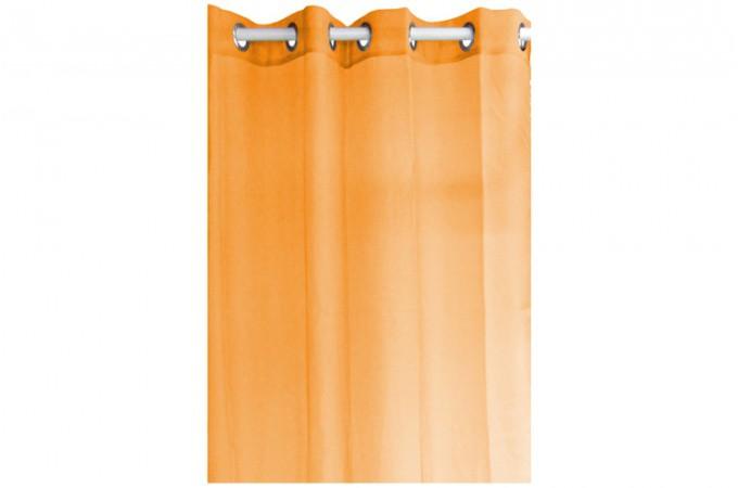 voilage en polyester orange 135 x 240 cm rideaux pas cher. Black Bedroom Furniture Sets. Home Design Ideas