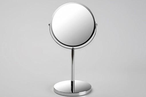 Petit miroir d 39 appoint en verre argent pablo salle de - Miroir lumineux salle de bain pas cher ...
