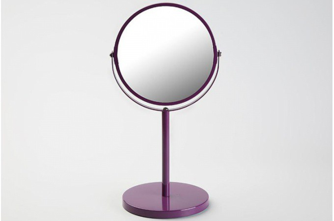 petit miroir d 39 appoint en verre violet pablo salle de bain pas cher. Black Bedroom Furniture Sets. Home Design Ideas